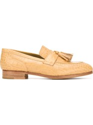 Junya Watanabe Comme Des Gara Ons Croc Effect Loafers Nude And Neutrals