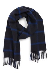 Barbour Bradford Tattersall Scarf Navy