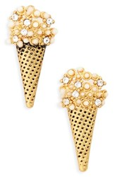 Marc Jacobs Women's Ice Cream Cone Stud Earrings Antique Gold
