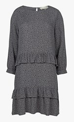 Fat Face Spotted Ruffle Dress Pewter