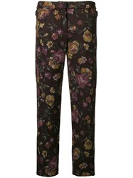 Roseanna Charles Floral Trousers Brown
