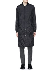 Alexander Wang Quilted Nylon Long Baseball Jacket