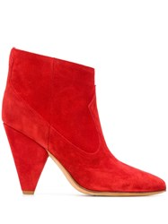Buttero Panelled Booties Red
