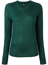 Aspesi V Neck Jumper Green