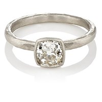 Malcolm Betts Square Faced Ring Platinum