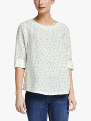 John Lewis Collection Weekend By Emilia Linen Blend Floral Shell Top White Multi