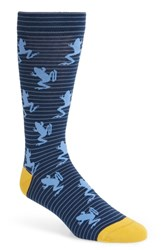 Ted Baker London Hivan Frog Print Socks Navy