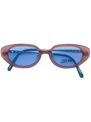 Jean Paul Gaultier Vintage Detachable Sunglasses Frames Pink And Purple