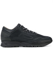 Lanvin Lace Up Running Sneakers Black
