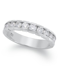 Macy's Certified Diamond Anniversary Band Ring In 14K White Gold 1 Ct. T.W.