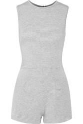 Kain Label Pico Striped Stretch Jersey Playsuit Gray