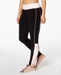Material Girl Active Juniors' Colorblocked Lace Up Yoga Leggings Created For Macy's Pure Pink