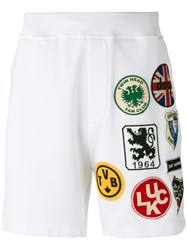 Dsquared2 Track Shorts White
