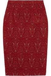 Tory Burch Debra Jacquard Skirt Red