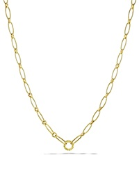 David Yurman Oval Link Necklace Yellow Gold