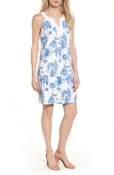 Tommy Bahama Women's Having A Toile Shift Dress Dockside Blue