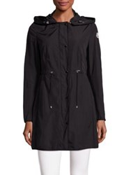 Moncler Long Hooded Jacket Black