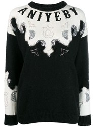 Aniye By Embellished Logo Sweater Black