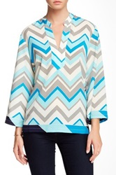 Julie Brown Willa Blouse Blue