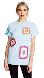 Michaela Buerger Patch Tee With Trim Blue