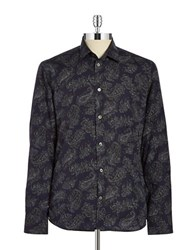 Paul And Joe Titure Paisley Sportshirt Blue