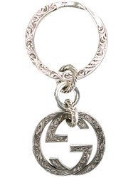 Gucci Interlocking G Keyring Metallic