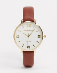 Bellfield Brown Watch With White Dial