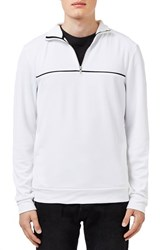 Topman Men's Quarter Zip Track Jacket