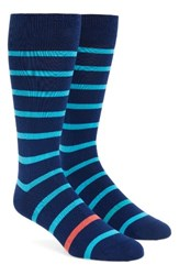 Paul Smith Men's Stripe Socks Navy Bright Blue