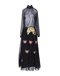 Shirtaporter Long Dresses Black