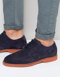 Polo Ralph Lauren Cartland Suede Derby Shoes Navy Blue
