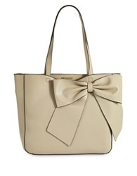 Karl Lagerfeld Fara Leather Bow Tote Taupe