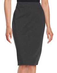 Vince Camuto Petite Knit Pencil Skirt Dark Heather Grey