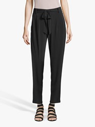 Betty Barclay And Co Belted Cropped Trousers Black