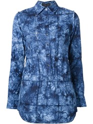 Thakoon Tie Dye Playsuit Blue