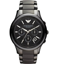Emporio Armani Ceramic Chrono Bracelet Watch Black
