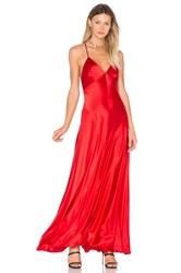 Jill Stuart Satin Slip Gown Red