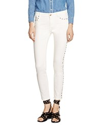 Maje Paolo Studded Jeans In Ecru
