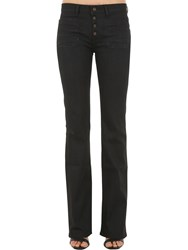 Saint Laurent Flared Cotton Denim Jeans Black