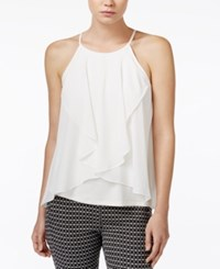 Bar Iii Sleeveless Draped Top Only At Macy's Washed White