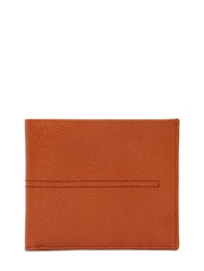 Tod's Stitched Embossed Leather Classic Wallet Orange