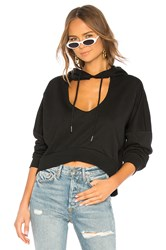 By The Way Jessica Cut Out Hoodie Black