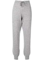 Barrie Knitted Track Pants Grey