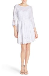 Women's Eci Embroidered Lace Fit And Flare Dress