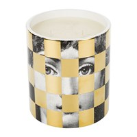 Fornasetti Scacco Scented Candle Gold