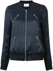 Just Female Multi Pockets Bomber Jacket Blue