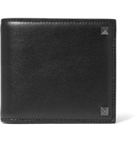 Valentino Studded Leather Billfold Wallet Black