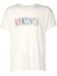 The Elder Statesman Mykonos Print T Shirt White