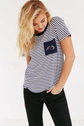 Truly Madly Deeply Bonjour Baby Ringer Tee White