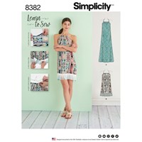 Simplicity Women's Learn To Sew Dress Sewing Pattern 8382